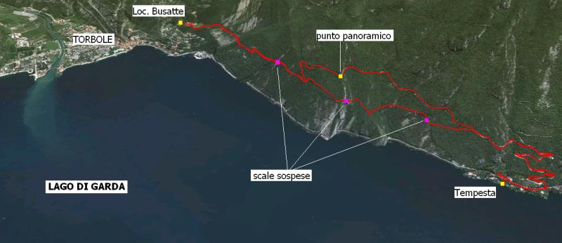 Sentiero Busatte - Tempesta: passerella sul Lago di Garda!