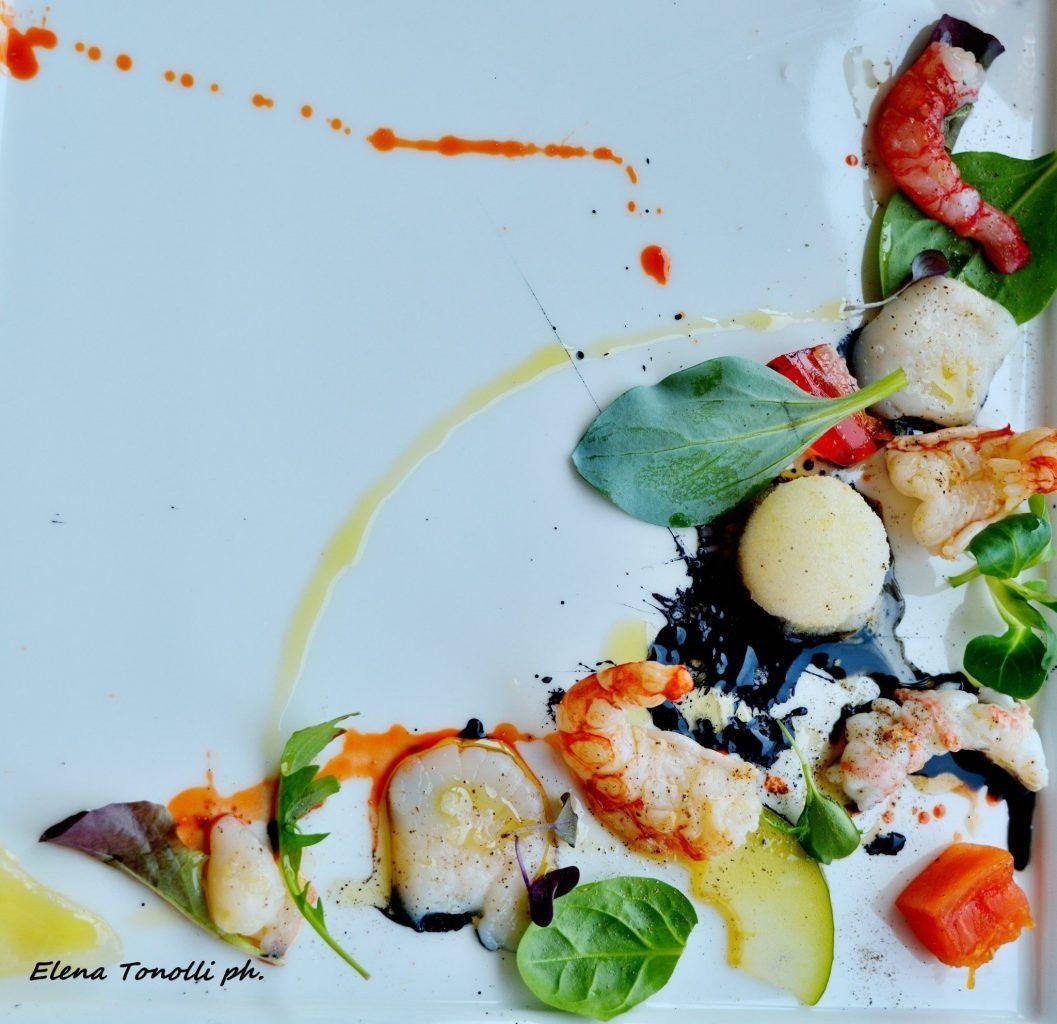 Appunti di un pranzo stellato dall'ideatore di Fish & Chef, Leandro Luppi nella sua Vecchia Malcesine