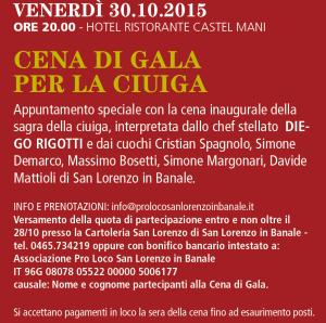 Sagra della Ciuìga a S.Lorenzo in Banale dal 30 Ottobre al 1 Novembre 2015