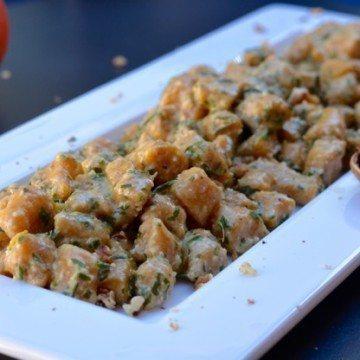Gnocchetti di zucca con pesto al rosmarino