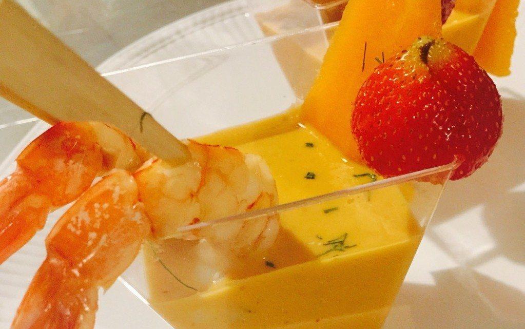 Gazpacho melone e gamberi