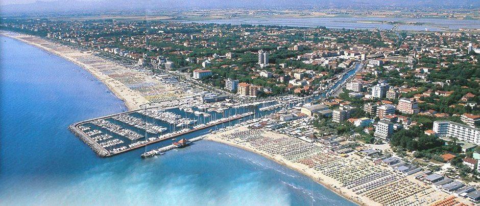Una veduta del litorale di Milano Marittima